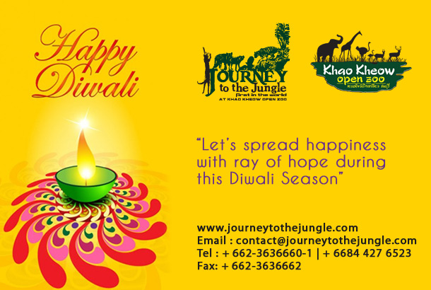 Happy Diwali from Khao Kheow Open Zoo
