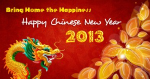 Happy Chinese Lunar New Year 2013